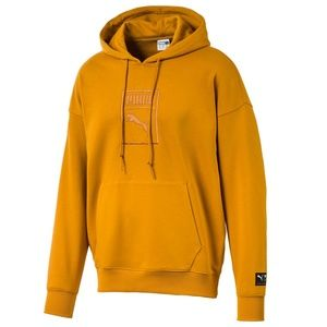 Puma Men's Downtown Relaxed Logo Hoodie Sweatshirt